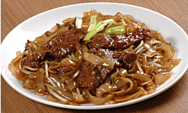 Recipe- Stir-fried Beef Rice Noodles [Serves 4]