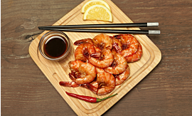 Recipe- Prawns in Soy Sauce [Serves 2]