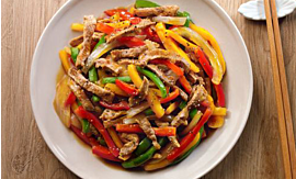 Recipe- Pan-fried Pork with Bell Pepper [Serves 4]