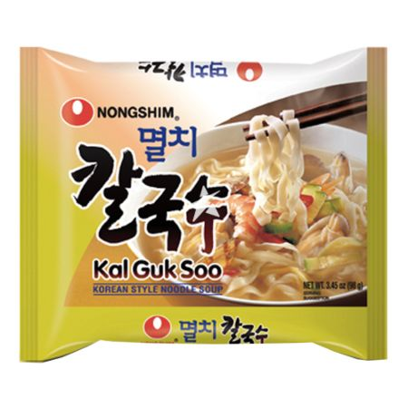 Nongshim Anchovy Kal Guk Soo (Non-Fried Noodle Soup with Dried Anchovy Broth) 98g