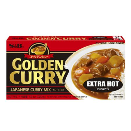 S&B Golden Curry Sauce Mix - Extra Hot 12 Servings 220g