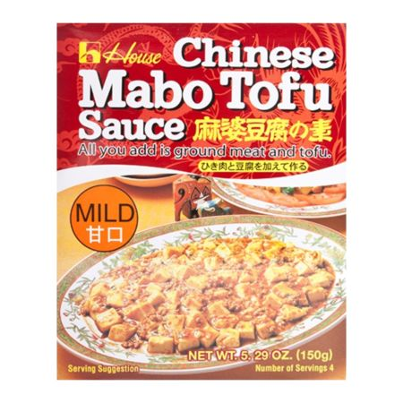 House Foods Chinese Mabo Tofu Sauce - Mild 4 Servings  5.29 OZ. 150g