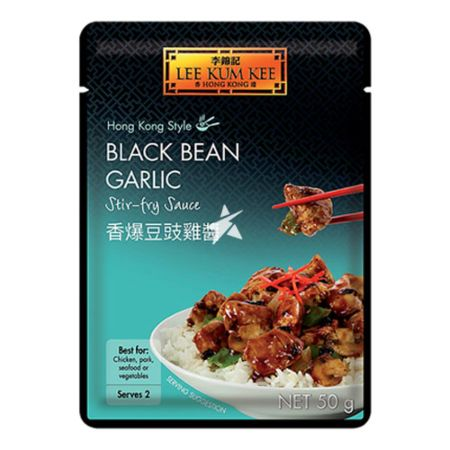 Lee Kum Kee Convenient Sachet Sauces - Hong Kong Style Black Bean Garlic Stir-Fry Sauce 50g