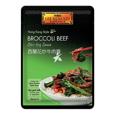 Lee Kum Kee Convenient Sachet Sauces - Broccoli Beef in Oyster Sauce 50g