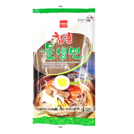 Wang Brand Korean Style Buckwheat Noodle with Soup (Hamheung Mul Naengmyon) (4 Servings) 624g