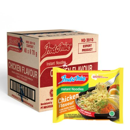 Indomie Instant Noodles Chicken Flavour 70g (Pack of 40)
