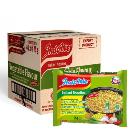 Indomie Instant Noodles Soup Vegetable & Lime Flavour 75g (Pack of 40)