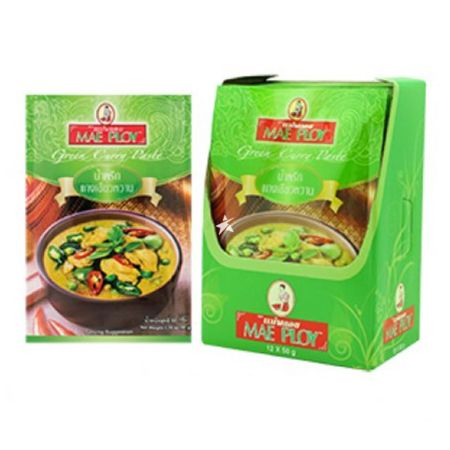 Mae Ploy Green Curry Paste 50g (Pack of 12)