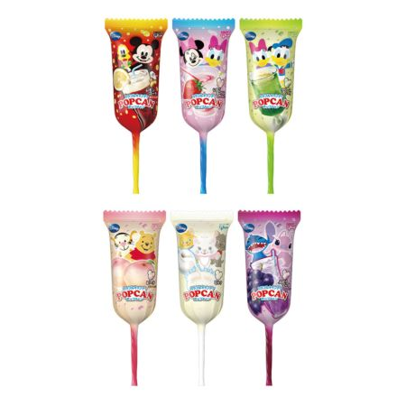 Glico Popcan Mickey Mouse Shape Lollipop Assorted Fruit Flavours 10g (6 Pieces)