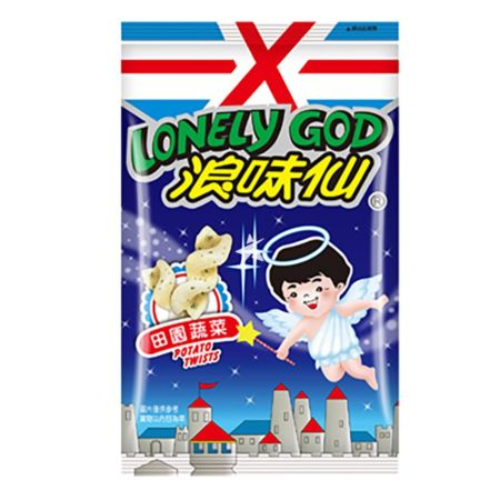 Want Want Lonely God Potato Twists Vegetable Flavour 86g