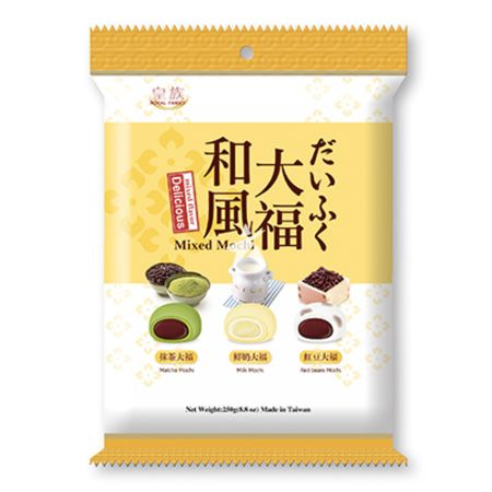Royal Family Mochi - Mixed (Matcha, Milk & Red Bean) Flavour 250g