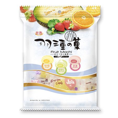 Royal Family Fruit Mochi (Orange, Hami Melon & Strawberry) 120g