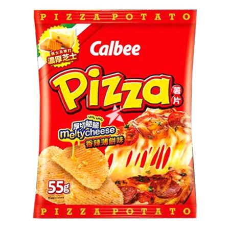 Calbee Potato Chips - Spicy Melty Cheese Pizza Flavour 55g