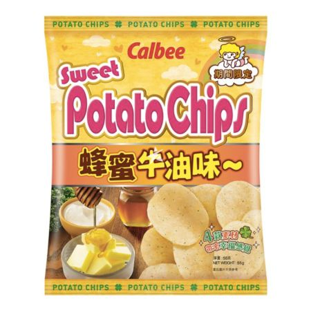 Calbee Potato Chips - Honey & Butter Flavour 55g (Limited Edition)