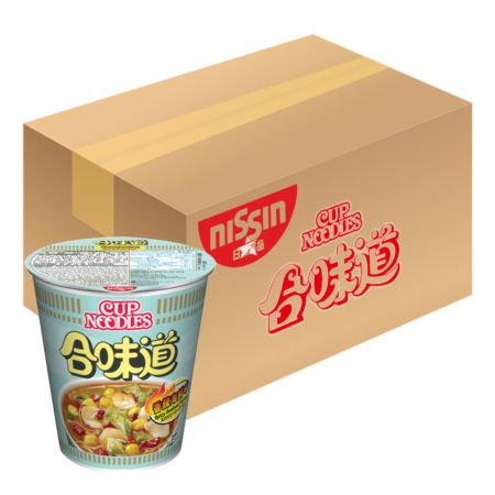 Nissin Cup Noodles - Spicy Seafood Flavour 75g*24 Cups