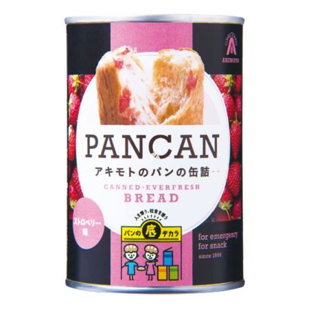 Pan Akimoto Canned Bread Pancan Strawberry Flavour 100g