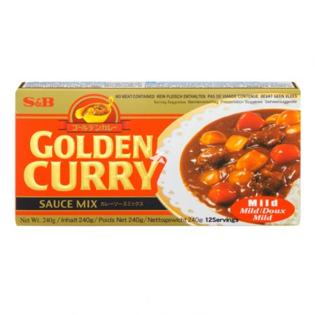 S&B Golden Curry Sauce Mix - Mild (No Meat Contained) 240g