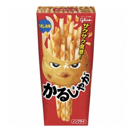 Glico Straw Shaped Potato Snacks Salt Flavour -Karujyaga Umashio Aji 40g