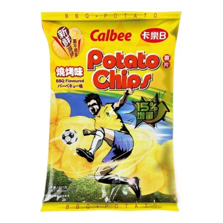 Calbee Potato Chips - BBQ Flavoured 105g
