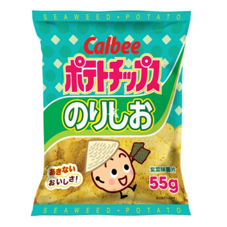 Calbee Potato Chips - Seaweed Flavour 55g