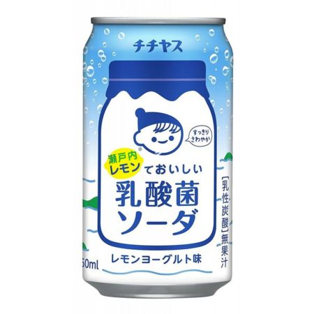 Chichiyasu Lemon Milky Carbonated Soft Drink 350ml