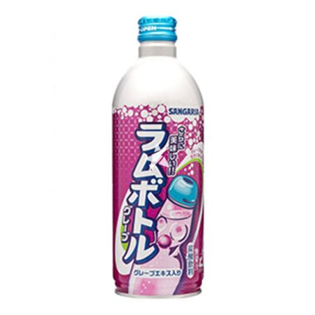 Sangaria Ramune Bottle Grape Flavour 500ml