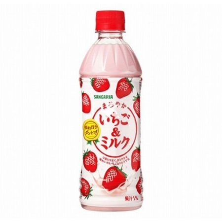 Sangaria Maroyaka Ichigo Miruku (Milk & Strawberry Drink) 500ml
