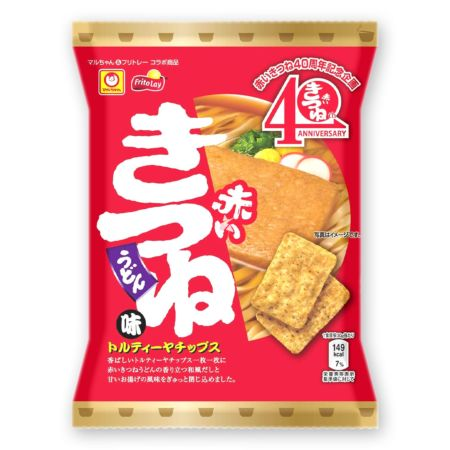 Fritolay Tortilla Chips Maruchan Red Kitsune Flavour 65g