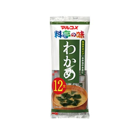 Marukome Instant Miso Soup with Wakame (JP) 12pcs x 18g