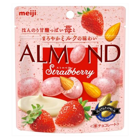 Meiji Almond Chocolate Strawberry Pouch Pack 47g