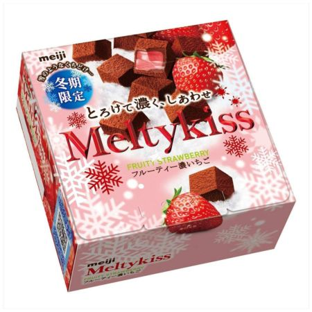 Meiji Meltykiss Chocolate  Fruity Strawberry Flavour [Winter Limited Edition] 56g