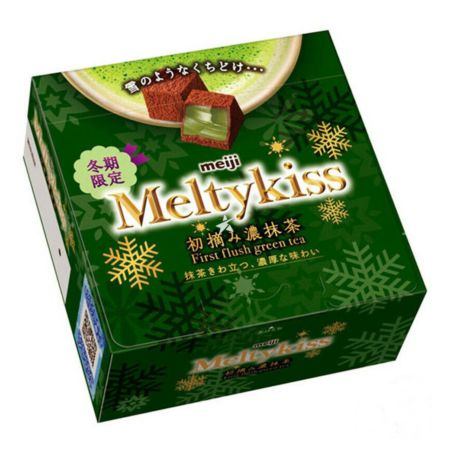 Meiji Meltykiss Chocolate Young Leaf Rich Matcha Flavour [Winter Limited Edition] 56g