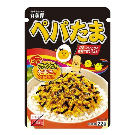 Marumiya Furikake Rice Seasoning Pepper & Tamago 22g