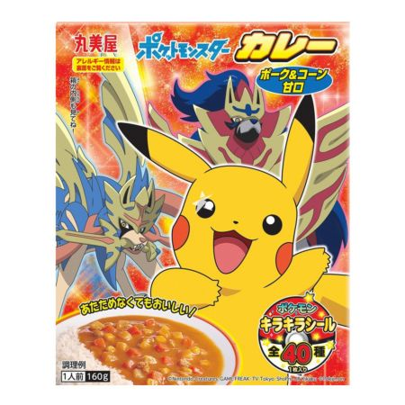 Marumiya Pokemon Instant Curry (Retort Pouch) Pork & Corn (Mild) 160g