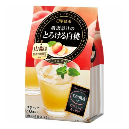 Nittoh Royal Tea Melty Peach Flavour 10 Sticks 95g