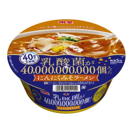 Myojo 40 Billion Lactic Acid Bacteria Garlic Miso Bowl Ramen 103g