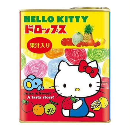 [Old Barcode] Sakuma Hello Kitty Fruit Drops in Tin 75g