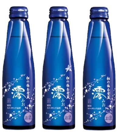 [Set] Takara Sho Chiku Bai Shirakabegura - Mio Sparkling Sake 300ml 5% Alc./Vol (Pack of 3)