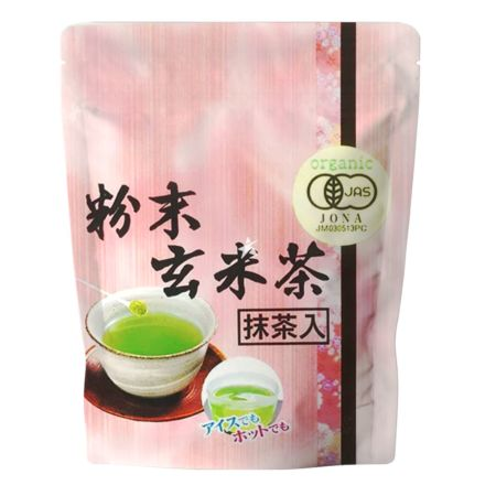 Meikochagyo Genmai Tea Powder (with Matcha) 40g