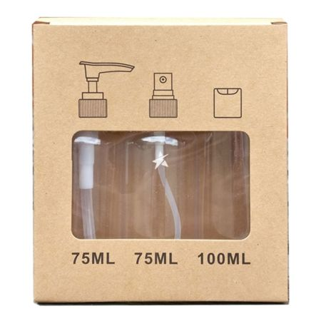 Flight Bottle Set - Clear Plastic
