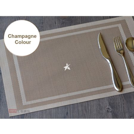 PVC Place Mat - Champagne Colour Set of 4