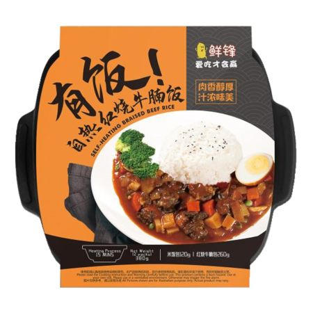 Xian Feng Self-Heating Rice with Braised Beef Rice 380g