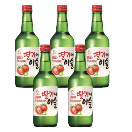 Jinro Chamisul Soju Strawberry Flavour 360ml 13% Alc./Vol (5 Bottles)