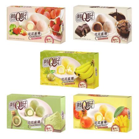 Taiwan Dessert Cacao Mochi 80g (Assorted Set of 5 Flavours)