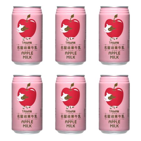 Famous House 名屋苹果牛乳 340ml (Pack of 6)