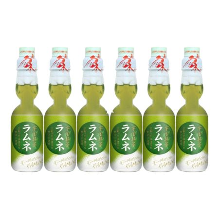 Hatakosen 哈达波子汽水 京都宇治抹茶 200ml (Pack of 6)