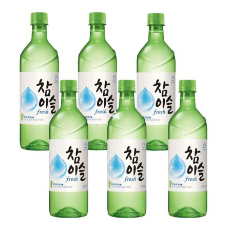 Jinro Chamisul (Fresh) Soju PET 500ml 17.8% Alc./Vol (6 Bottles)