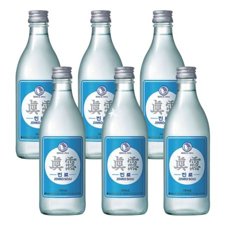 Jinro Soju 350ml 16.9% Alc./Vol (6 Bottles)