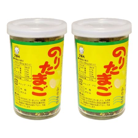 Futaba Furikake Rice Seasoning - Nori Tamago (Seaweed & Egg) Flavour 60g (Pack of 2)