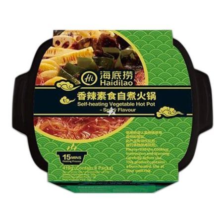 Haidilao Self-Heating Vegetable Hot Pot Spicy Flavour 410g
